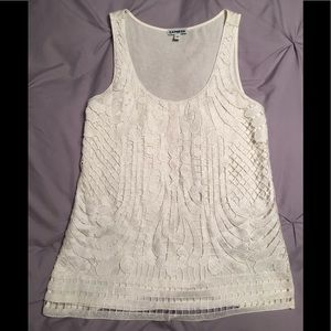 Express crochet front sparkle tank